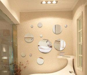 decoração-com-espelhos-redondos
