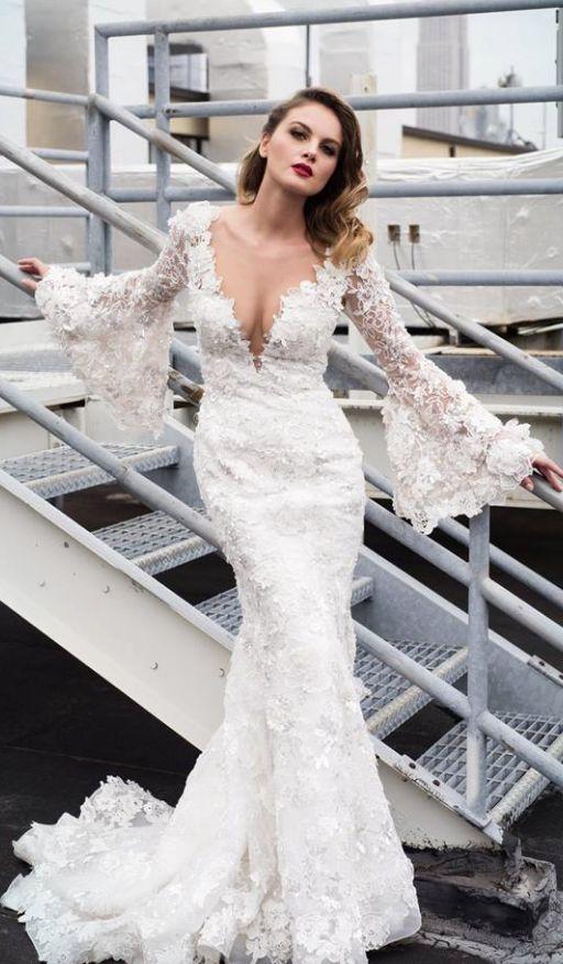 Featured Dress: Stephen Yearick; Wedding dress idea.