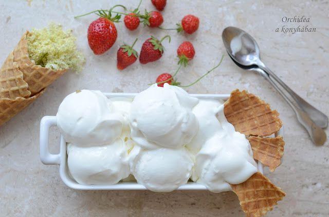 Orchidea a konyhában: Hófehér fagylalt a bodzavirág illatával (VKF! 49)