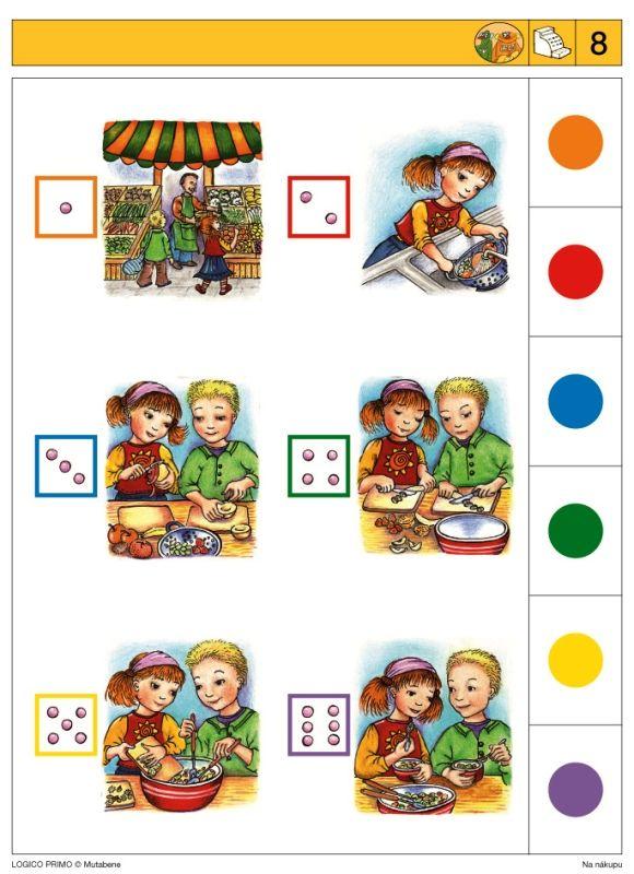 soubor logico primo, didaktická hračka, nakupování