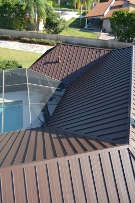 This Kendall Fl Roof Just Received An Exquisite Standing Seam Metal Roof Makeover The Most Prof Residential Metal Roofing Metal Roof Standing Seam Metal Roof
