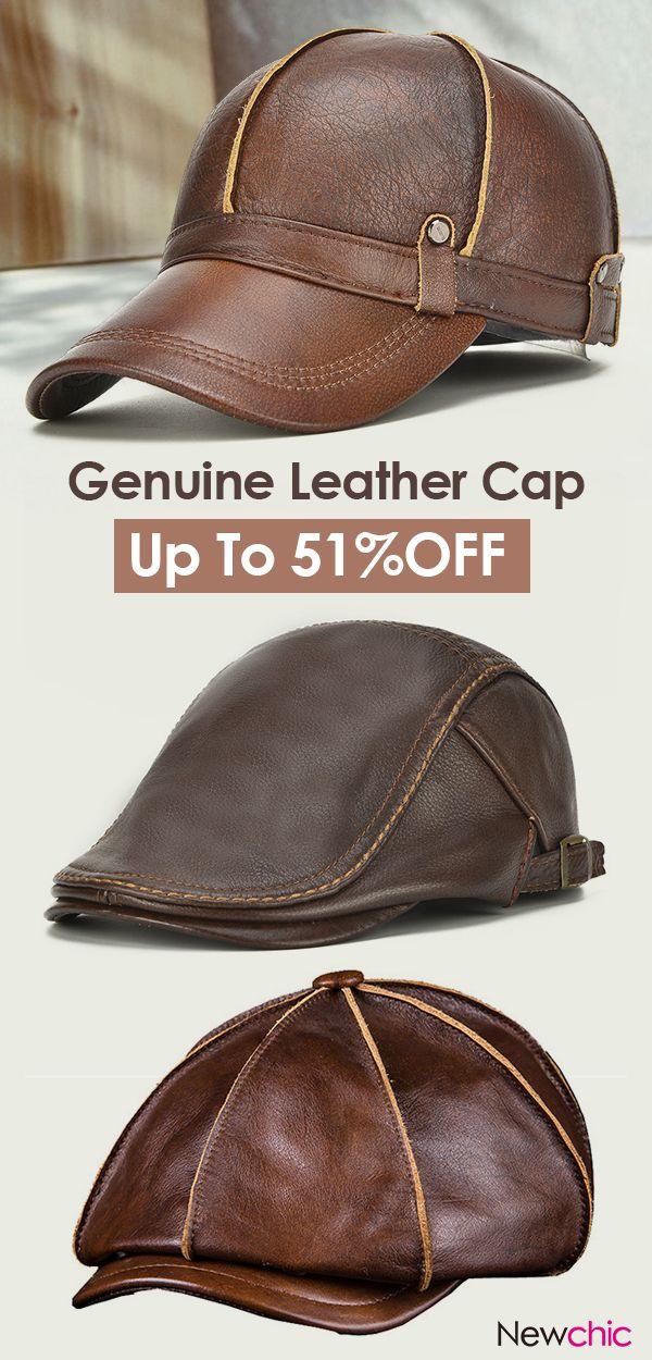 14f9a8879da Genuine Leather Cap  mensfashion  leather  cap