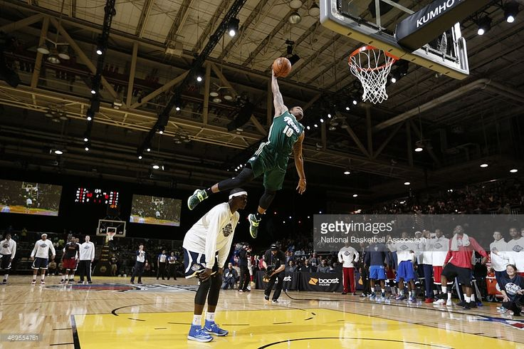 The Reno Bighorns. A NBA development team. Ra'shad James of the Reno Bighorns attempts a dunk during the Slam Dunk Contest as part of the the NBA Dream Factory presented by Boost Mobile 2014 at Sprint Arena as part of 2014 NBA All-Star Weekend