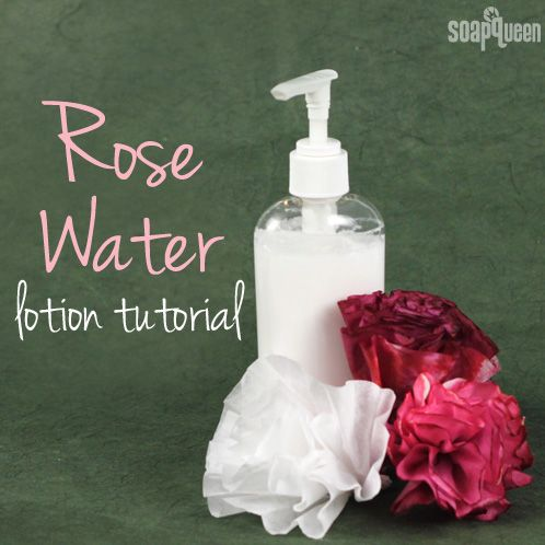 DIY Homemade Rose Water Lotion Recipe for Mom as Handmade Mother's Day Gift Idea
