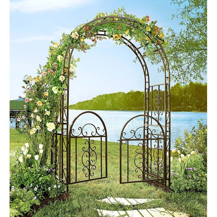 Montebello Iron Arbor With Gate Garden Arbor With Gate Garden Arbor Arbors Trellis