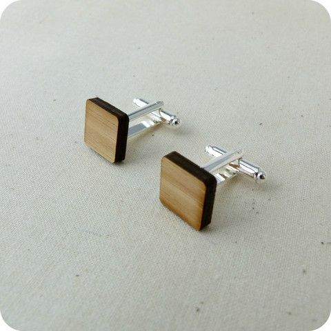 Square Cufflinks | One Happy Leaf | Nell and Oll