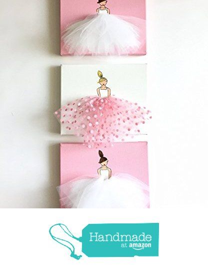 Set of 3 Ballerina Nursery Art ( Little Princesses in Pink & White Tutu) from Shenasi Concept http://www.amazon.com/dp/B016U6SMS4/ref=hnd_sw_r_pi_dp_r8ojwb0GK5B6Q #handmadeatamazon
