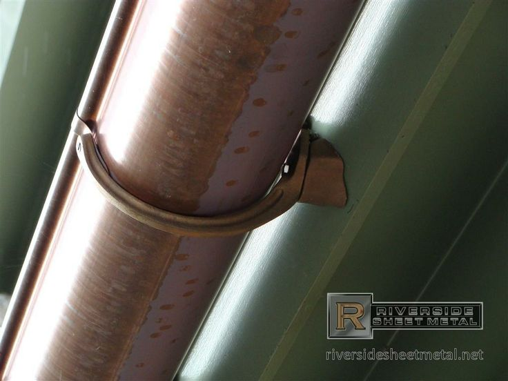 Gutter Hanger Types Copper Gutter With Under Mount Brass
