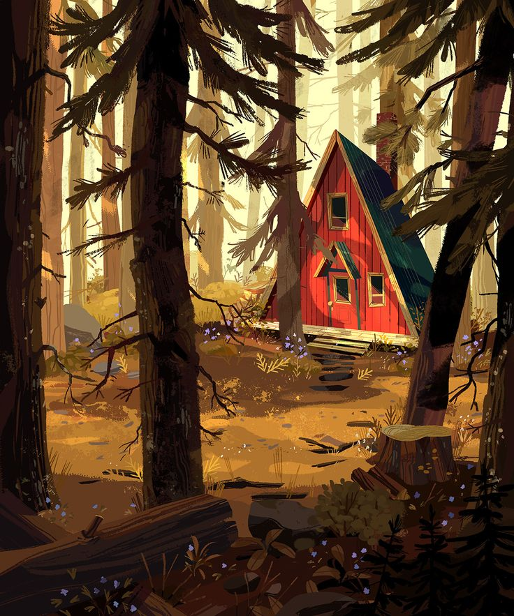"""Check out this @Behance project: """"A Cabin in the Woods"""" https://www.behance.net/gallery/49374435/A-Cabin-in-the-Woods"""