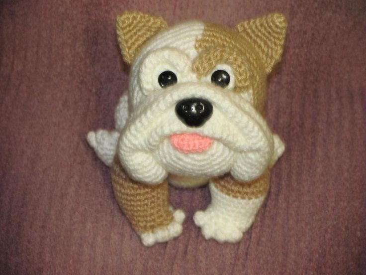 I made this in all white and made up my won pattern for a sweater and made a GA Bulldog.