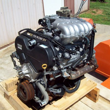 #UsedEngines 2003 Toyota Tacoma 5VZFE 6 cylinder engine. A 2003 Toyota Tacoma 5VZFE Used Engine sitting on a pallet.
