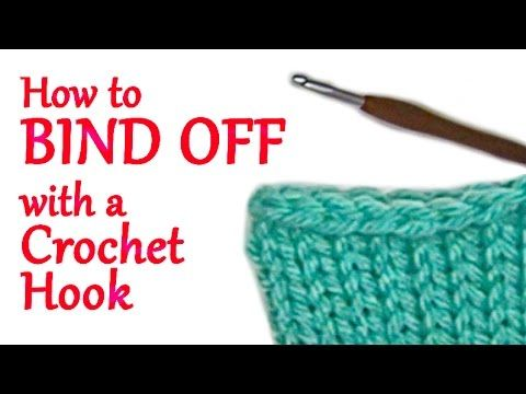 Learn how to Bind Off your Addi Knitting Machine Projects with a Crochet Hook! No knitting needles required! This technique creates the standard bind off use...