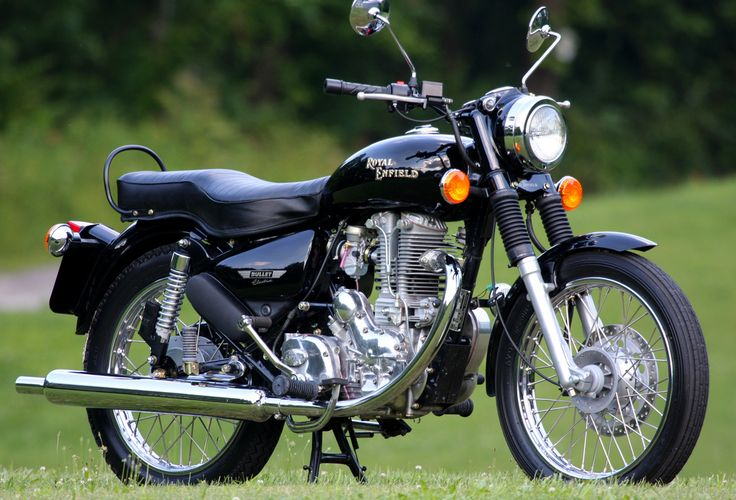 Royal Enfield Bullet was the first such variant of this company, which went on to popularise the concept of cruiser biking and simultaneously led to the launch of several such bikes in India. Description from cartrade.com. I searched for this on bing.com/images