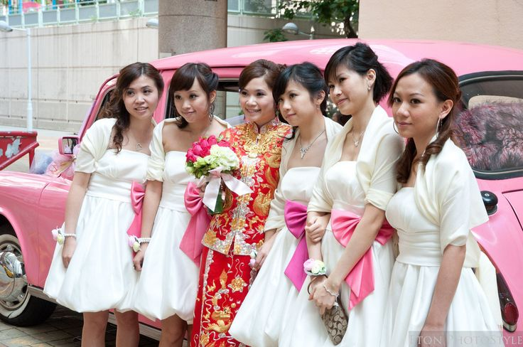 he Bridesmaid Blockade  In China, when a groom comes to get his bride, he must first break through an aggressive wall of her angry bridesmaids. The bridesmaids demand money from him, and put him through a series of silly performances and tasks - all meant to prove just how strong his love really is.