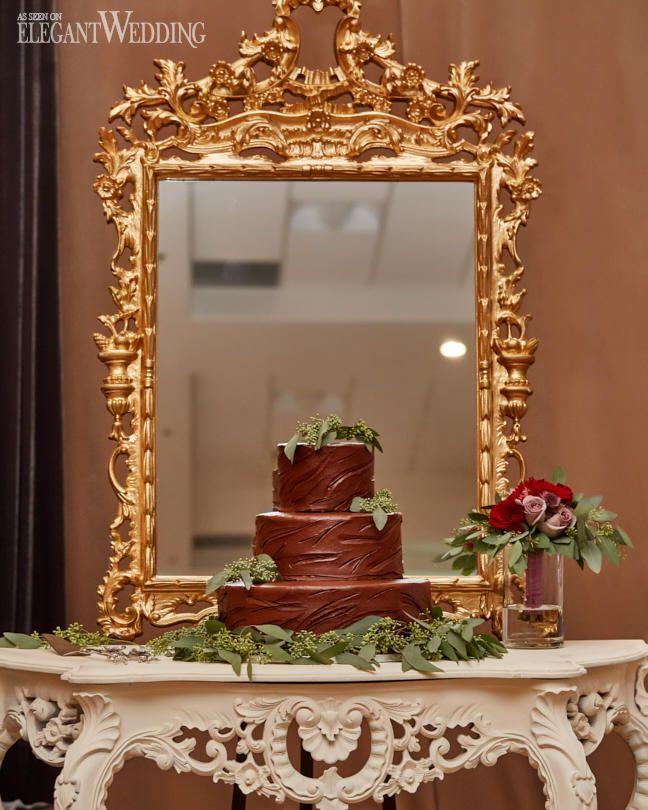 Chocolate Wedding Cake, Tree Bark Wedding Cake #weddingcake ...