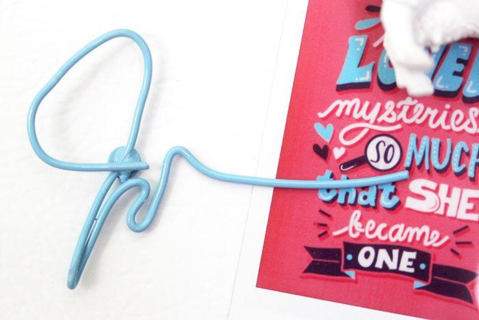 DIY Paper Towns Locker Magnets | Karen Kavett John green j scribble magnet