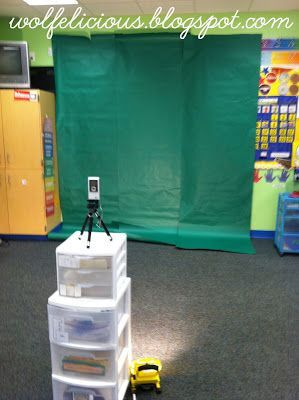 """A fun way to make movies with the iMovie apps. Use a """"green screen"""" background and then put in your own photo background with iMovie. So clever!"""