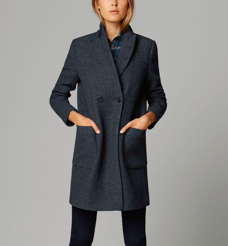 Massimo Dutti - DOUBLE-BREASTED COAT - £195