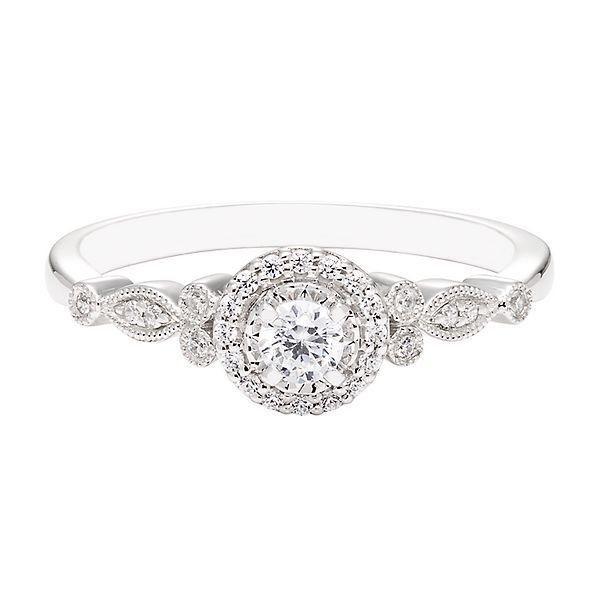 1 7 Ct Tw Diamond Promise Ring In 10k White Gold Helzberg Diamonds Diamond Engagement Ring Set Morganite Engagement Ring Set Morganite Engagement Ring