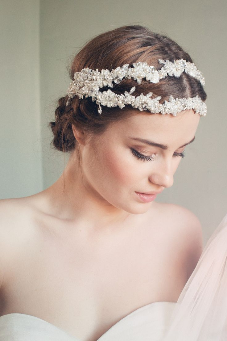 Swoon over jannie baltzer s wild nature bridal headpiece collection - Unique Bridal Headpieces And Veils