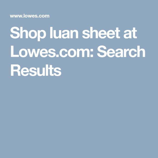 Shop luan sheet at Lowes com: Search Results | Let's Build