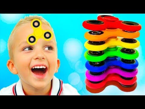 Bad Baby Learn Colors with Fidget Spinner Johny Johny Yes Papa Babies songs Nursery Rhymes for kids - YouTube