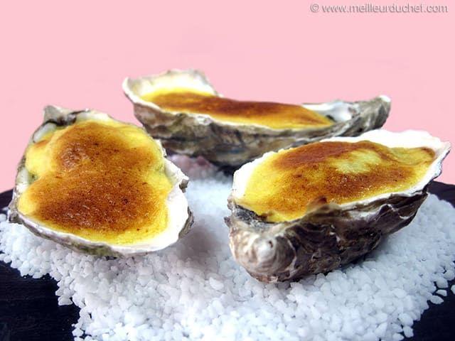 Huîtres gratinées au sabayon de champagne - Meilleur du Chef