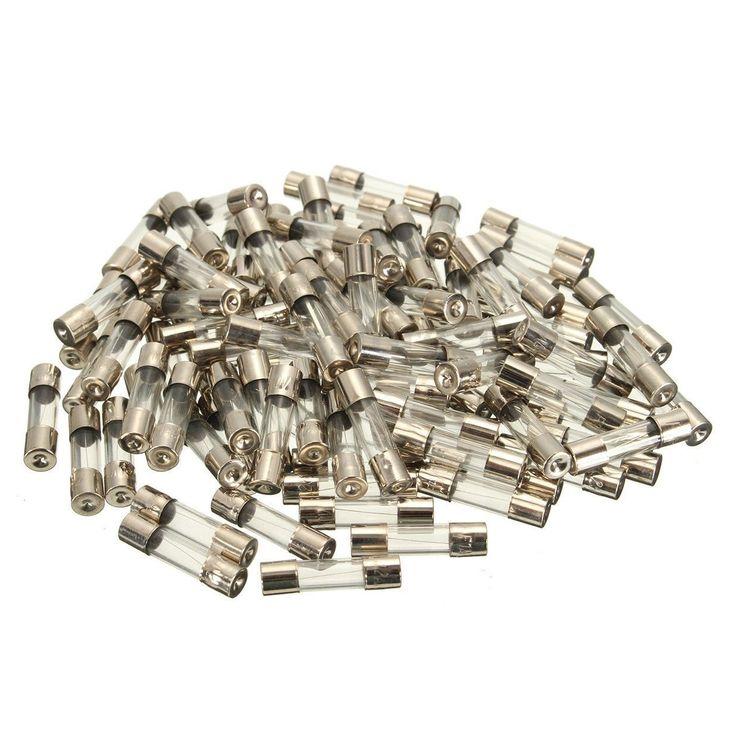 Cnim hot 100pcs set 5x20mm quick blow glass tube fuse