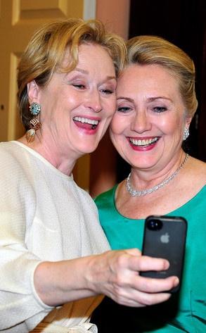 Meryl Streep and Hillary Clinton.