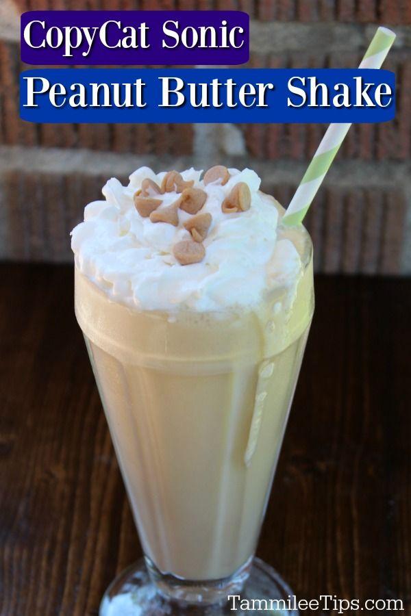 Copycat Sonic Peanut Butter Shake Recipe Peanut Butter Shake Recipe Peanut Butter Shake Milkshake Recipe Easy