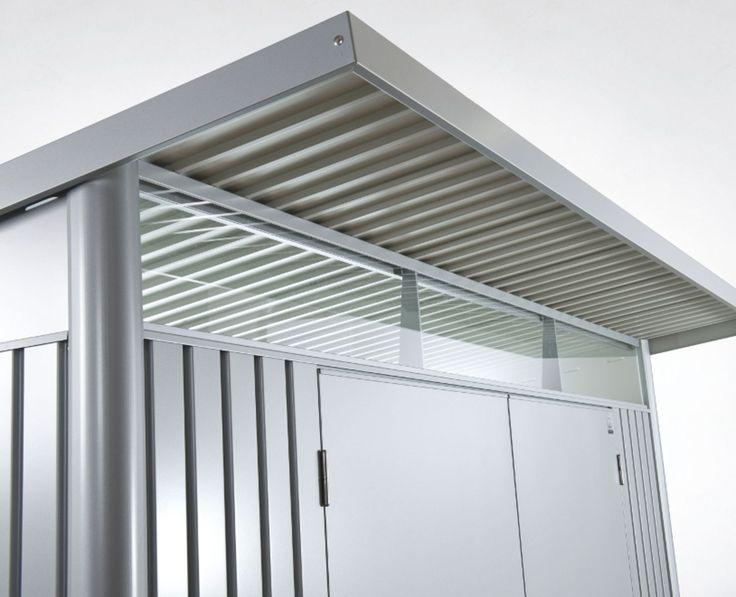 die besten 25 metallger tehaus ideen auf pinterest moderne gartenger te holzwand obi und. Black Bedroom Furniture Sets. Home Design Ideas