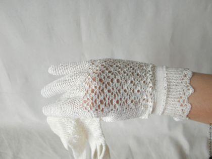 Перчатки ажурные `Принцесса` вязаные (винтаж). Ярмарка мастеров.