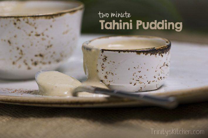 Two Minute Tahini Banana Pudding