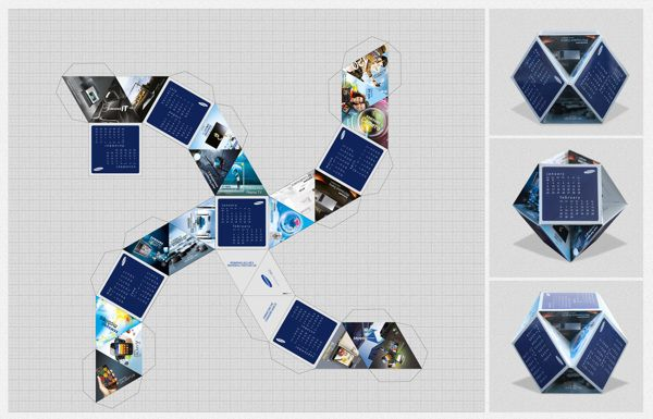 Samsung Calendar 2012 by muhammad anees idrees, via Behance