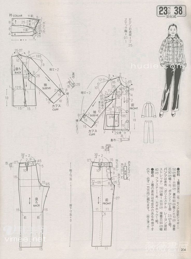 Detailed Technical Fashion Drawing