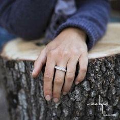 Bague en argent massif emmêlé, alliance noeud, anneau tige, bijoux organique