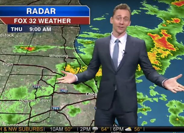 Watch Tom Hiddleston Deliver The Chicago Weather Report As Loki - #ChicagoWeather, #Loki, #TheAvengers, #TomHiddleston