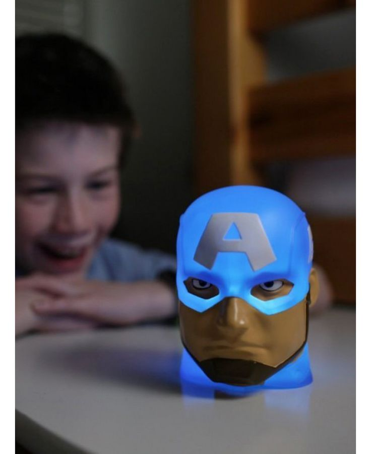The battery operated Captain America illumi-Mate Colour Changing Light is fully portable so Captain America can be taken with you wherever you go. Free UK delivery available