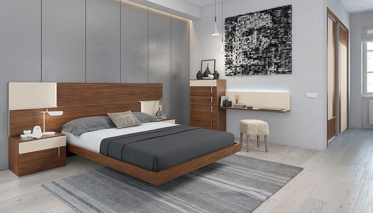 Dormitorio Terra en colores Almendra y Champan, un aire mas clásico.