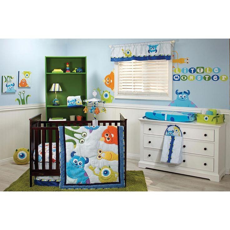 Disney Monsters Inc 5 Pcs Crib Bedding Set W Bumper