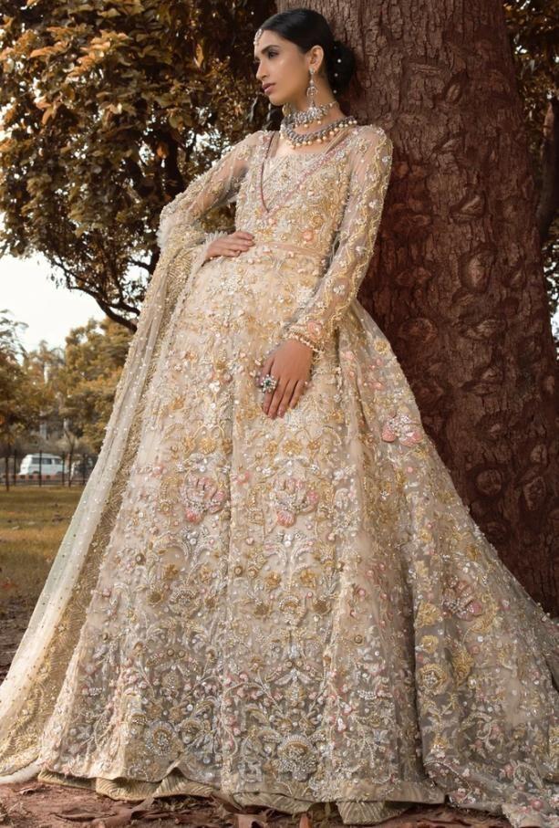 Pakistani Bridal Walima Outfit In Off White Color N7009 In 2020 Pakistani Bridal Dresses Pakistani Bridal Pakistani Bridal Wear