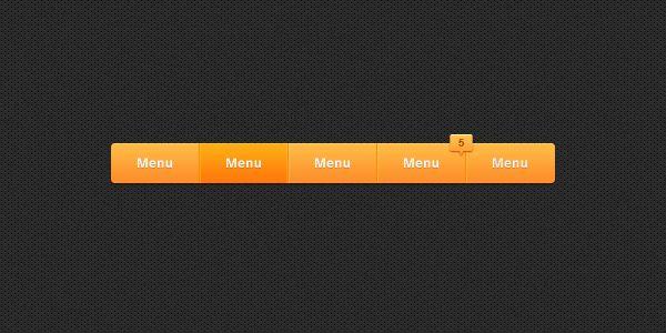 Freebie: Sleek Navigation Bar PSD | Machoarts » Design You Trust