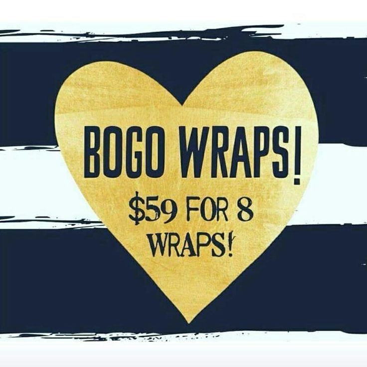 Say what?!? You've seen me sharing what our wraps can do!!! Normally you'd get 4 wraps/$99 full price or 4/$59 with our 90 day program but today and tomorrow we've sweetened the deal!!! 8/$59!!! That's less than $7.50 a wrap!! The deal is only until tomorrow night. Comment below if you want this BOGO! I'll help you order. ☺️