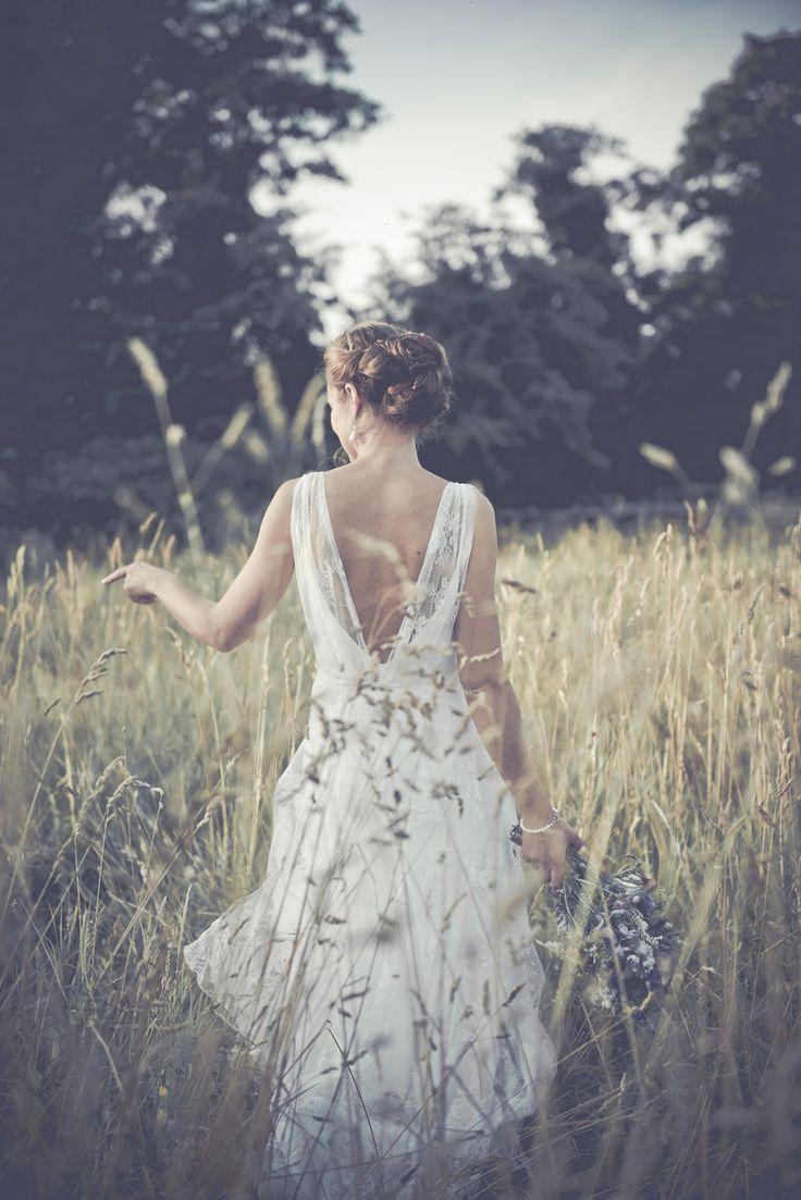 Image by Divine Day Photography - Wild Flower Wedding | Charlie Brear Bridal | Outdoor Wedding Ceremony | Mr. Start Groomswear | John Lewis Bridesmaids | Divine Day Photography