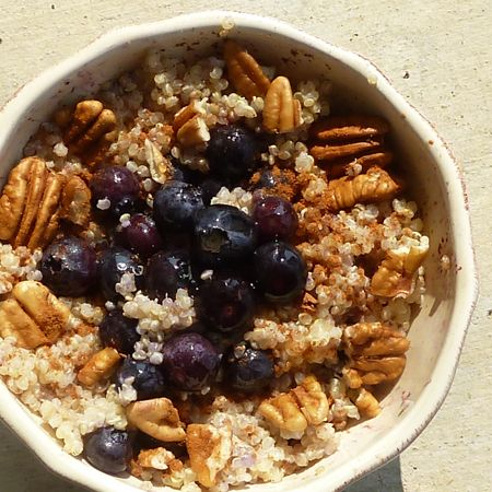 Warm and Nutty Cinnamon Quinoa Recipe   This Chick Cooks ~ Prepare a big batch and reheat with a little milk, then add toppings. Enjoy quick and wholesome breakfasts throughout the week.