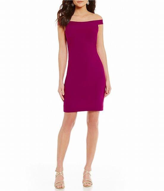 Belle Badgley Mischka Pam Off-the-Shoulder Dress:Belle Badgley Mischka Cocktail Dresses Outlet Online Shop Special Price $102:Dress U