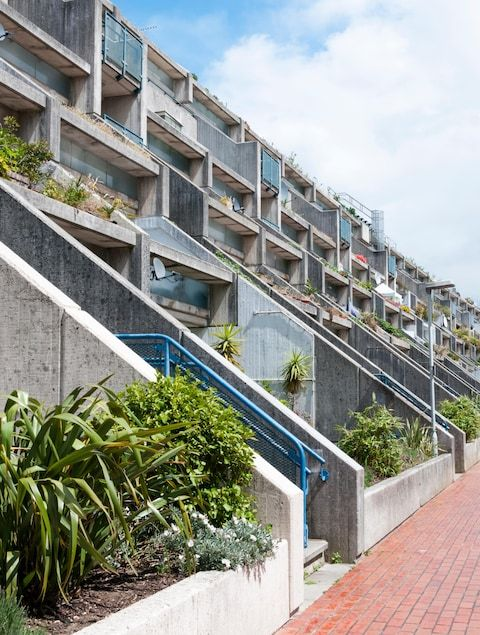 """""""A landmark of brutalist architecture and one of the most important social-housing projects ever built in Britain, the estate was designed by architect Neave Brown and completed in 1978. It has since become an icon of pop culture, starring in music videos and TV series including The Sweeney, Spooks and Prime Suspect. After a period of decline during the Thatcher years, it was regenerated and awarded Grade II* listed status in 1993."""" ...from The Telegraph"""
