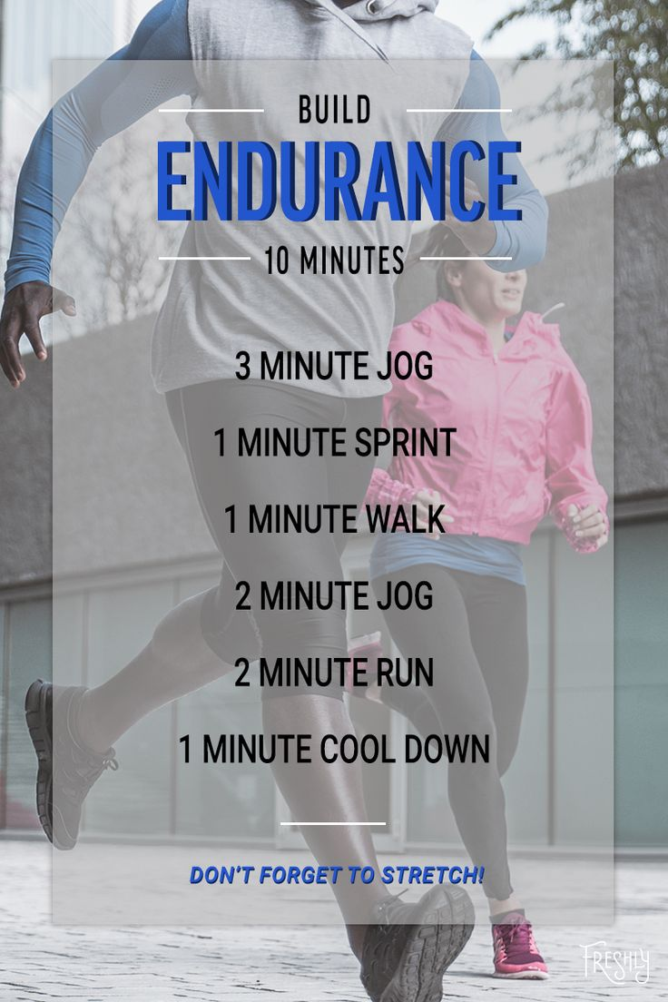 Stay fit and shake up your workout routine! Hit the pavement and try this ten-minute endurance builder.