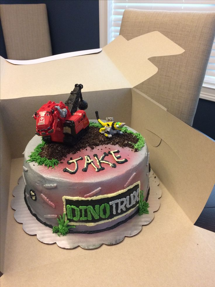 Dinotrux Cake Cakes Cupcakes In 2019 Truck Birthday