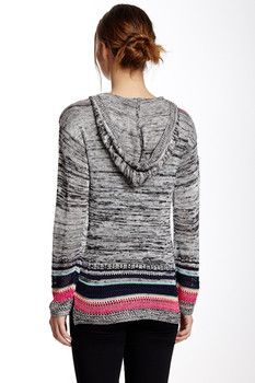 Love On A Hanger Stony Striped Hooded Sweater (Juniors)